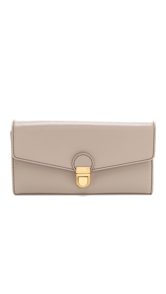 Marc by Marc Jacobs Top Chicret Solid New Long Trifold Wallet