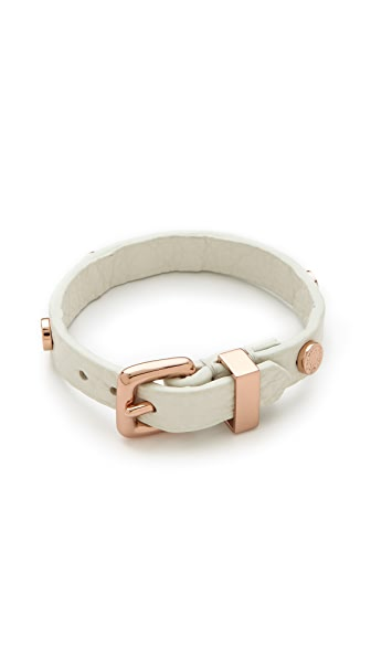 Marc by Marc Jacobs Turnlock Charm Leather Bracelet