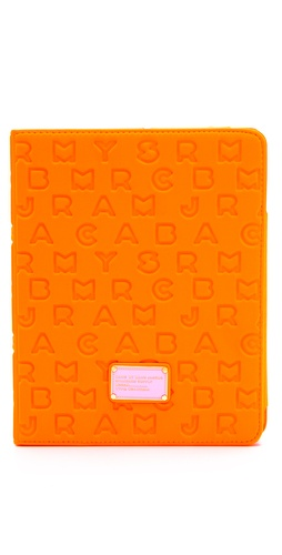 Shop Marc by Marc Jacobs Dreamy Logo Neoprene Tablet Book and Marc by Marc Jacobs online - Accessories,Womens,Tech_Accessories,iPad,Kindle, online Store