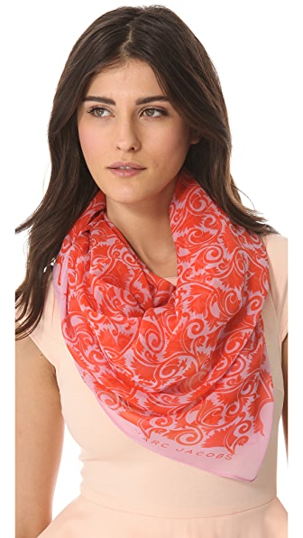 Marc by Marc Jacobs Woven Tootsie Flower Scarf