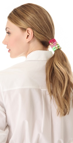 Shop Marc by Marc Jacobs Paste Cluster Ponys Hair Tie Set and Marc by Marc Jacobs online - Accessories,Womens,Fashion_Accessories,Hair_Accessories, online Store