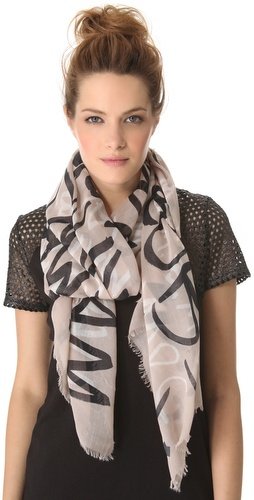 Shop Marc by Marc Jacobs MBMJ Print Scarf and Marc by Marc Jacobs online - Accessories,Womens,Fashion_Accessories,Scarves, online Store