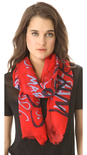 Marc by Marc Jacobs MBMJ Print Scarf