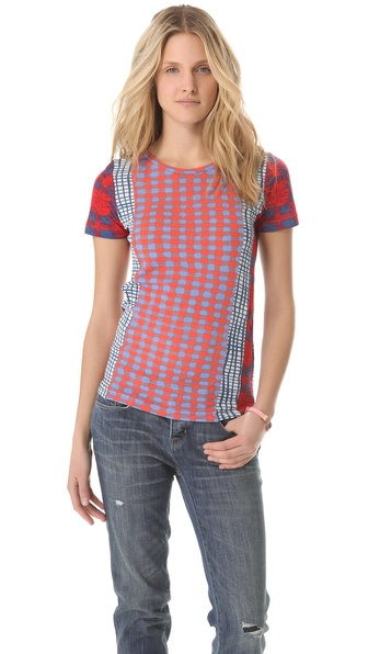 Marc by Marc Jacobs Check Mix Top