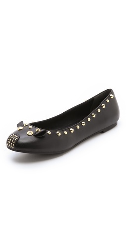 Shop Marc by Marc Jacobs Studded Punk Mouse Ballet Flats and Marc by Marc Jacobs online - Footwear, Womens, Footwear, Flats,  online Store