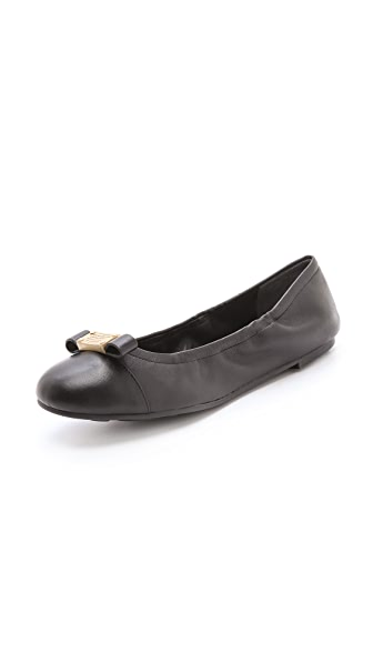 Marc by Marc Jacobs Scrunch Tuxedo Logo Plaque Flats