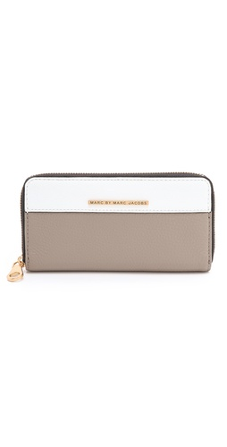 Marc by Marc Jacobs Sheltered Island Colorblock Slim Zip Wallet at Shopbop.com