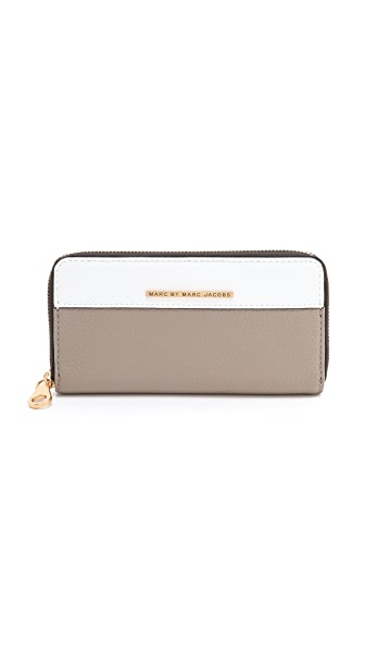 Marc by Marc Jacobs Sheltered Island Colorblock Slim Zip Wallet