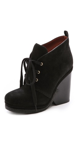 Marc by Marc Jacobs Lace Up Suede Platform Booties at Shopbop / East Dane