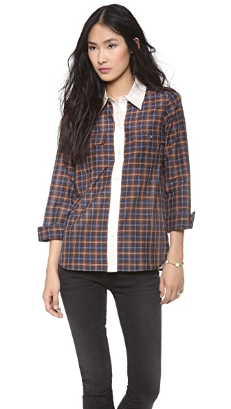 Marc by Marc Jacobs Abigail Plaid Button Down Shirt
