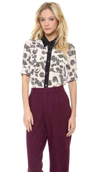 Marc by Marc Jacobs Rae Rae Tulip Button Down Blouse