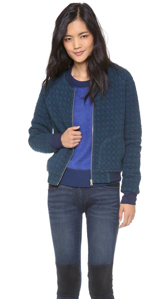 Marc by Marc Jacobs Quilty Argyle Jacket