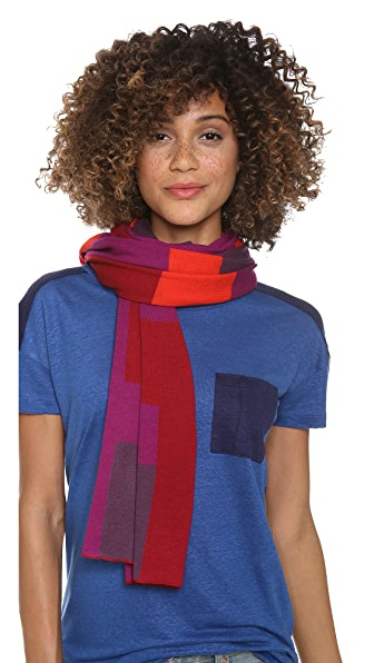 Marc by Marc Jacobs Poppy Patchwork Intarsia Scarf