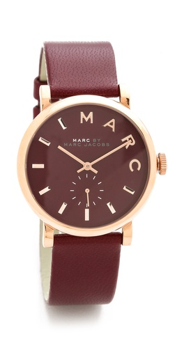 Marc by Marc Jacobs Leather Baker Watch at Shopbop / East Dane