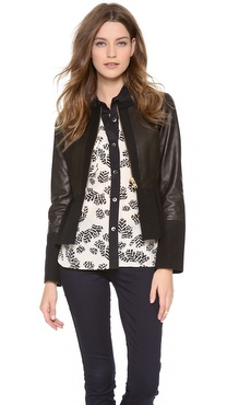 Marc by Marc Jacobs Kent Leather Peplum Jacket