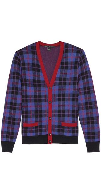Marc by Marc Jacobs Aimee Plaid Button Cardigan