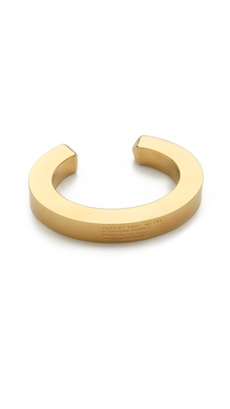 Marc by Marc Jacobs Standard Plaque Simple Cuff Bracelet