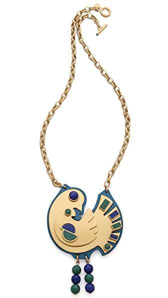 Marc by Marc Jacobs Peacock Two Birds Necklace