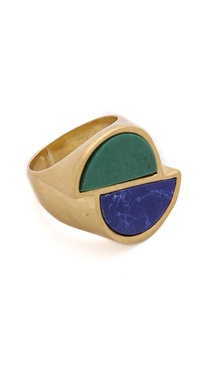 Marc by Marc Jacobs Peacock Half Circles Ring
