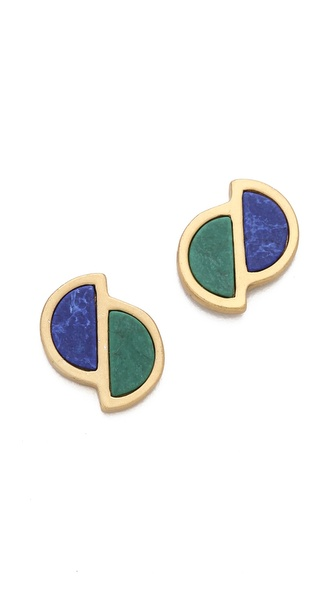Marc by Marc Jacobs Peacock Half Circle Stud Earrings