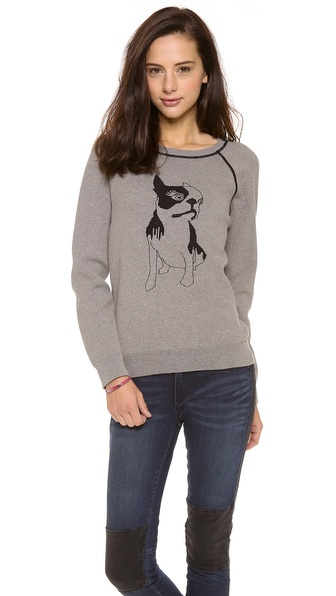 Marc by Marc Jacobs Olive Dog Intarsia Sweatshirt