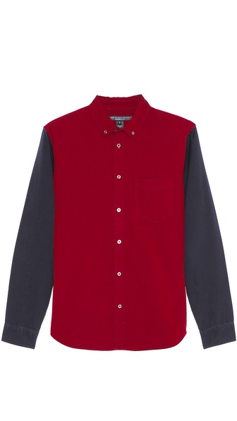 Marc by Marc Jacobs Oxford Contrast Sleeve Sport Shirt