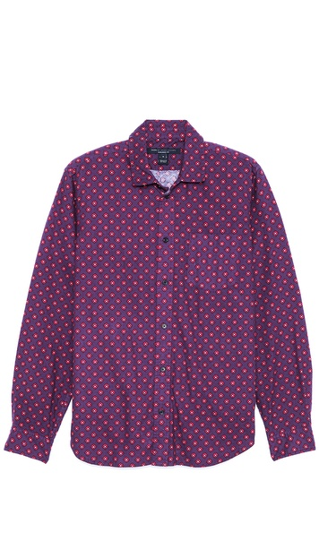 Marc by Marc Jacobs Farnham Geometric Flannel Sport Shirt