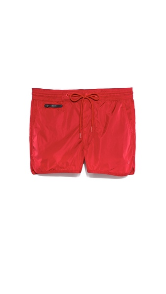 Marc by Marc Jacobs Solid Boxer Swim Trunk