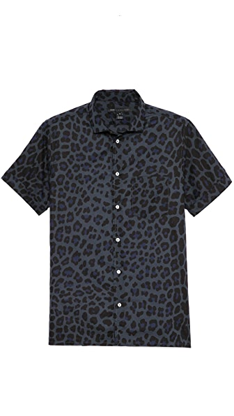 Marc by Marc Jacobs London Leopard Short Sleeve Shirt