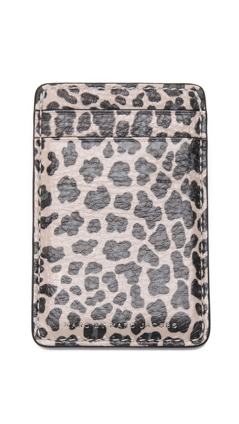 Marc by Marc Jacobs Leopard Print Card Case