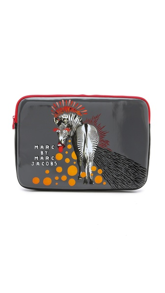 Marc by Marc Jacobs Zebra Coated Neoprene 13' Computer Case