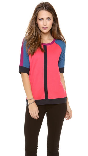 Marc by Marc Jacobs Connie Colorblock Blouse