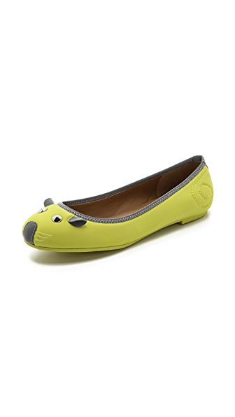 Marc by Marc Jacobs Neoprene Mouse Ballet Flats