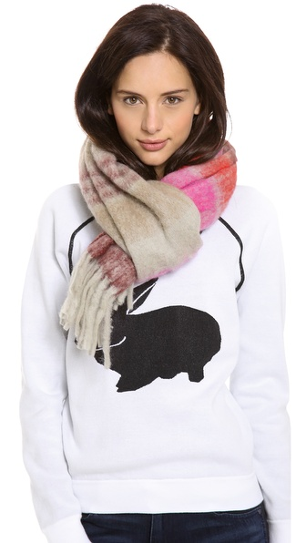 Marc by Marc Jacobs Poofy Stripe Scarf