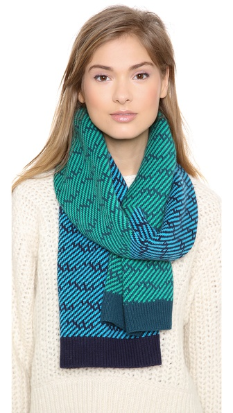 Marc by Marc Jacobs Slash Chevron Scarf
