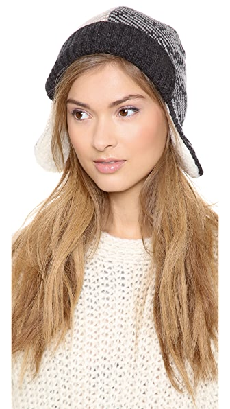 Marc by Marc Jacobs Slash Chevron Trapper Hat