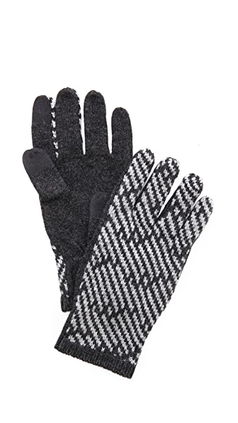 Marc by Marc Jacobs Slash Chevron Gloves