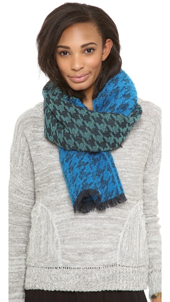 Marc by Marc Jacobs Terence Colorblock Houndstooth Scarf