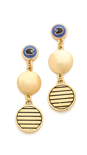 Marc by Marc Jacobs Dangle Disc Earrings