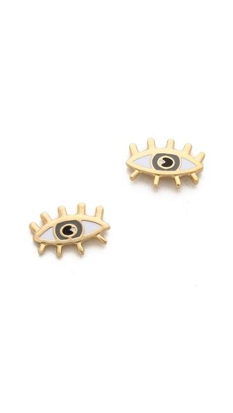 Marc by Marc Jacobs Metal Eye Stud Earrings