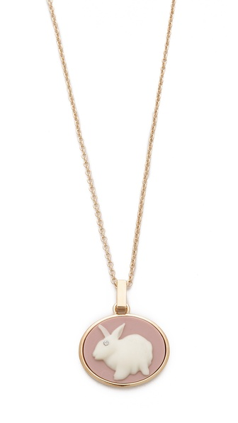 Marc by Marc Jacobs Bunny Cameo Pendant Necklace