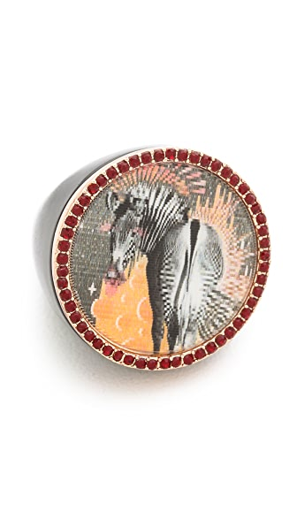 Marc by Marc Jacobs Lenticular Zebra Ring