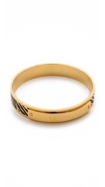 Marc by Marc Jacobs Zebra Print Bangle Bracelet