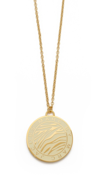 Marc by Marc Jacobs Zebra Pendant Coin Necklace