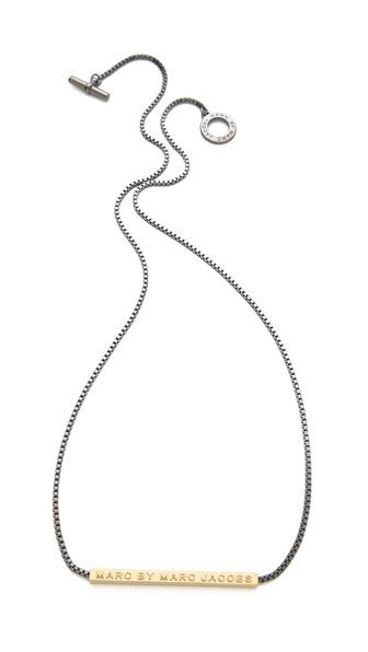 Marc by Marc Jacobs Long Letterpress Necklace