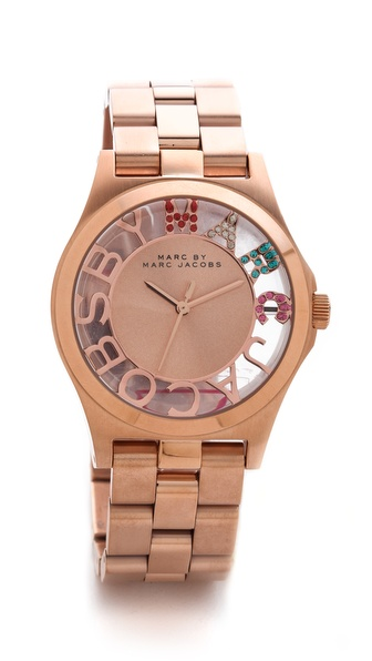 Marc by Marc Jacobs Henry Skeleton Glitz Watch