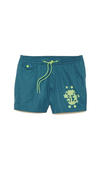 Marc by Marc Jacobs Tree Print Swim Trunks