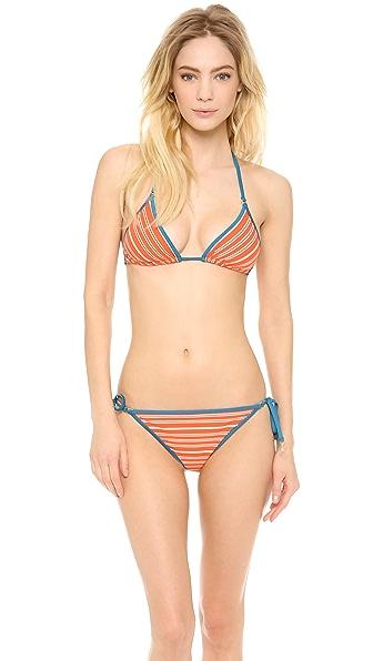 Marc by Marc Jacobs Tara Stripe Triangle Bikini Top