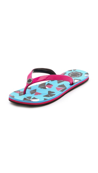 Marc By Marc Jacobs Jelly Flip Flops - Blue Multi/Raspberry
