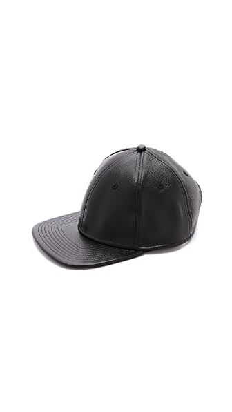 Marc by Marc Jacobs MJ Letterman Leather Hat